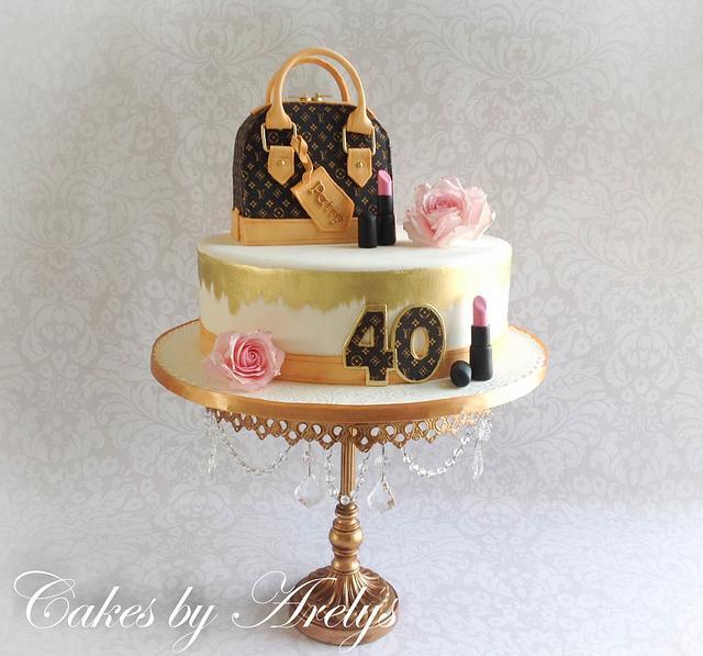 LV inspired cake