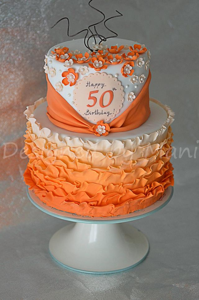 Magnificent 50Th Birthday Cake Cake By Designed By Mani Cakesdecor Personalised Birthday Cards Bromeletsinfo