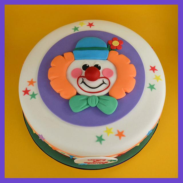 Clown 1st Birthday Cake.