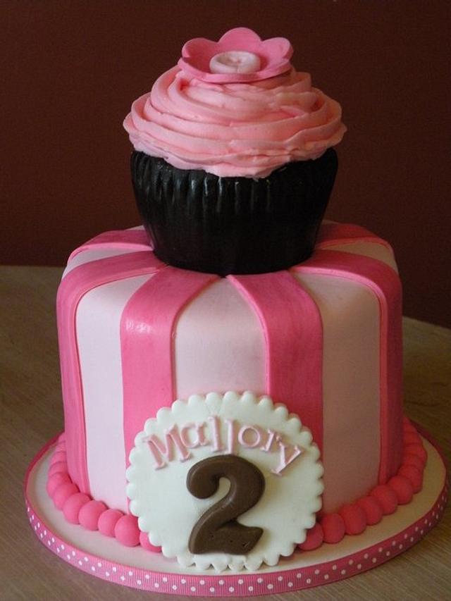 """Cupcake"" themed 2nd birthday"