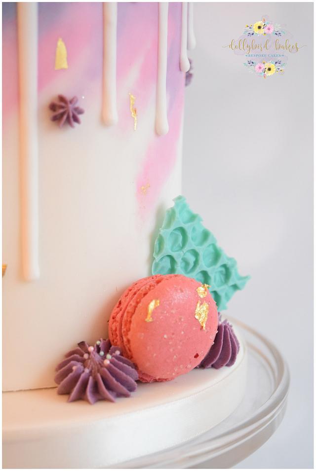 Watercolour Drip Cake