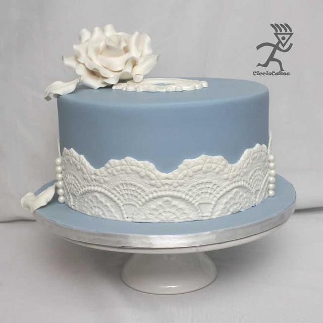 Wedgewood Inspired 60th Wedding Anniversary all edible