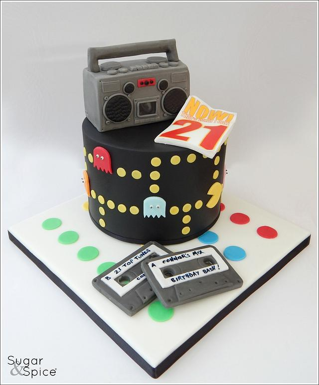 'Now that's what I call 21' ... 80's theme cake