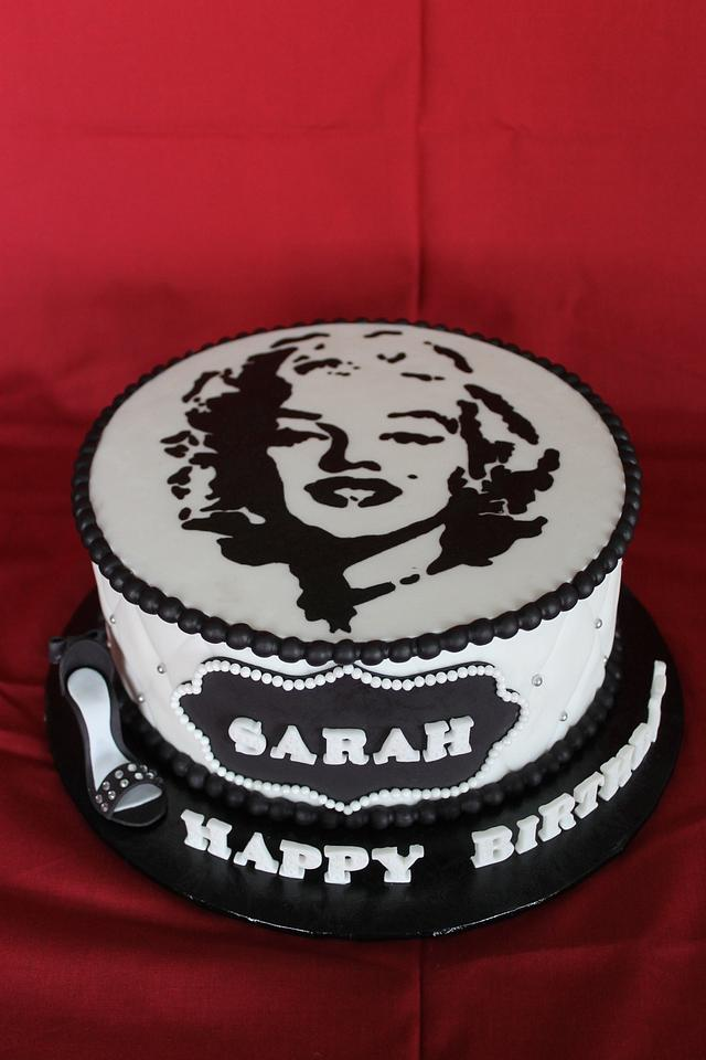 Admirable Marilyn Monroe Themed Birthday Cake Cake By Sweet Shop Cakesdecor Funny Birthday Cards Online Alyptdamsfinfo