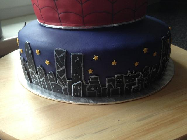 Spiderman-Batman-Cake