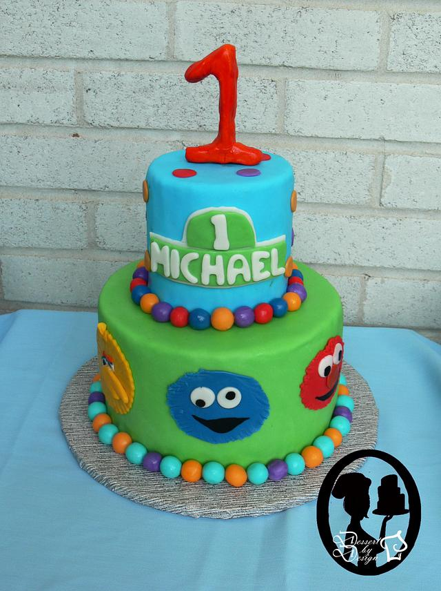 Wondrous Sesame Street 1St Birthday Cake By Dessert By Design Cakesdecor Personalised Birthday Cards Petedlily Jamesorg