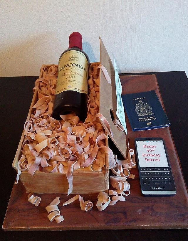 Pleasing Wine Bottle Birthday Cake Cake By Unas Cake Studio Cakesdecor Funny Birthday Cards Online Unhofree Goldxyz