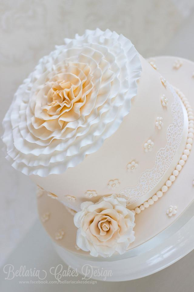 A 20th wedding anniversary cake