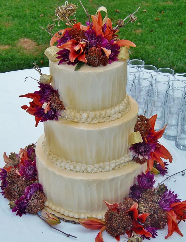 Autumn Buttercream golden cake