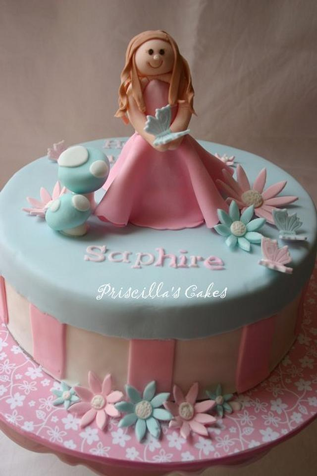 Girl's brithday cake