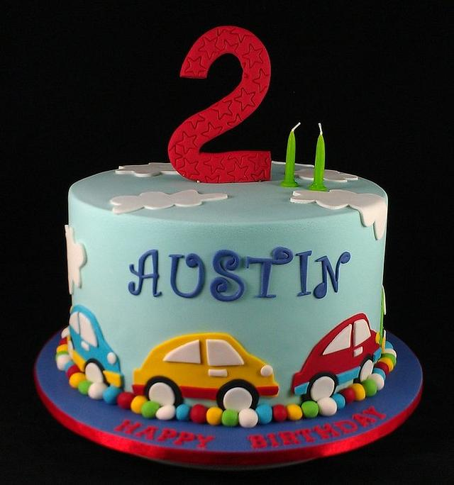 Outstanding Car Themed Cake 2Nd Birthday Cake By Lisa Jane Fudge Cakesdecor Funny Birthday Cards Online Inifodamsfinfo