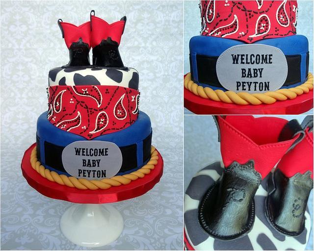 Rodeo baby shower cake