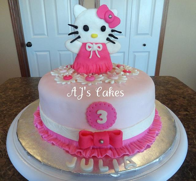 Pink and White Hello Kitty