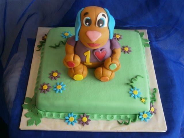 Stupendous Cake With Fisher Price Talking Dog Cake By Lenka Cakesdecor Personalised Birthday Cards Beptaeletsinfo