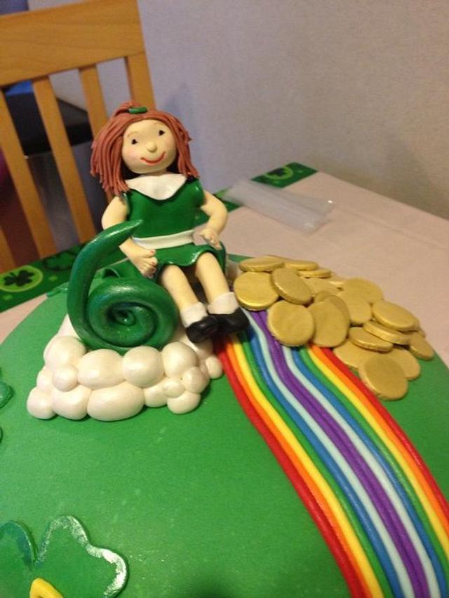 Brilliant St Patricks Day Birthday Cake Cake By Courtney Healan Cakesdecor Funny Birthday Cards Online Necthendildamsfinfo
