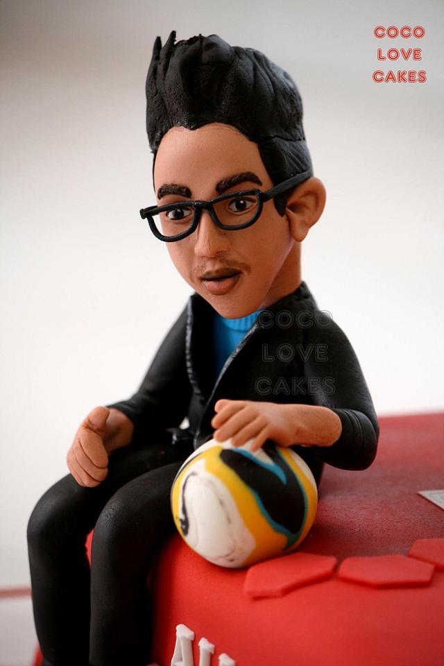 Soccer theme... ManU tshirt, Studs, ball