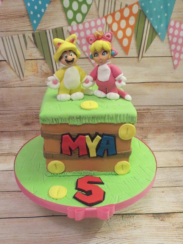 Super Mario 3D World cake