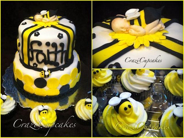 """mom to bee"" baby shower cake!"