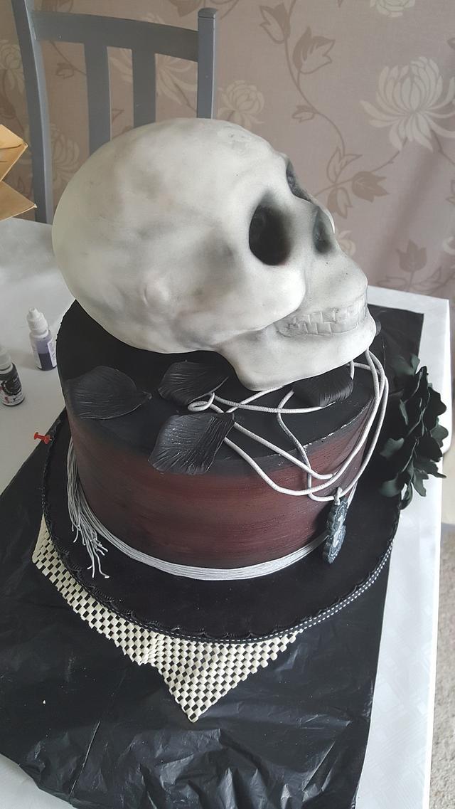 Gothic style Birthday cake