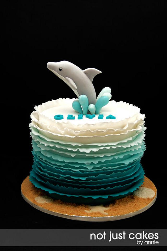 Awesome Dolphin Themed 6Th Birthday Cake Cake By Annie Cakesdecor Funny Birthday Cards Online Barepcheapnameinfo