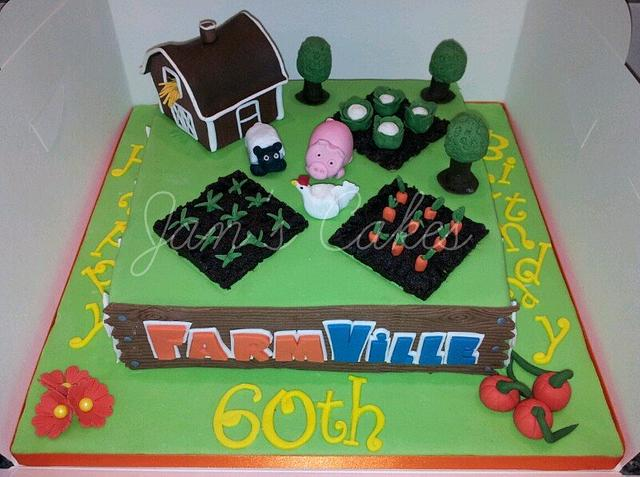 Farmville Birthday cake