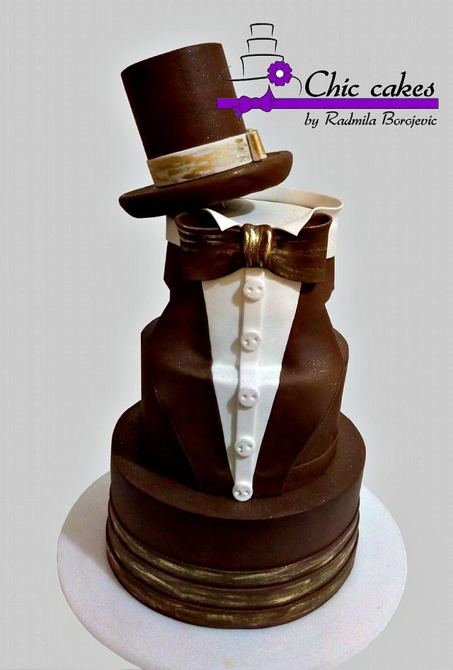 Super Elegant Birthday Cake Cake By Radmila Cakesdecor Personalised Birthday Cards Veneteletsinfo