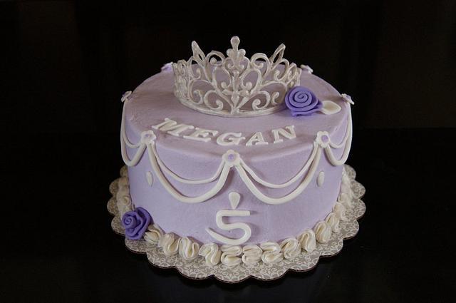 Princess cake with Royal Icing tiara