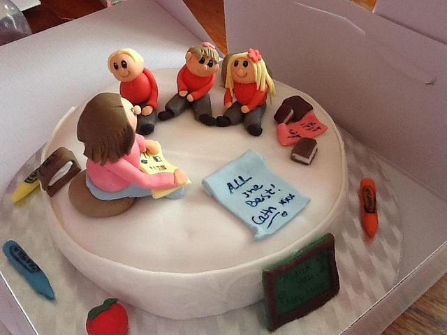 Thank you & Farewell Teacher cake
