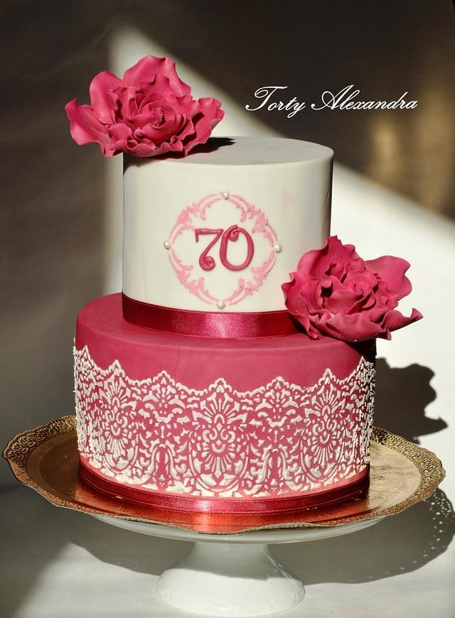 Prime 70 Birthday Cake For Women Cake By Torty Alexandra Cakesdecor Funny Birthday Cards Online Alyptdamsfinfo