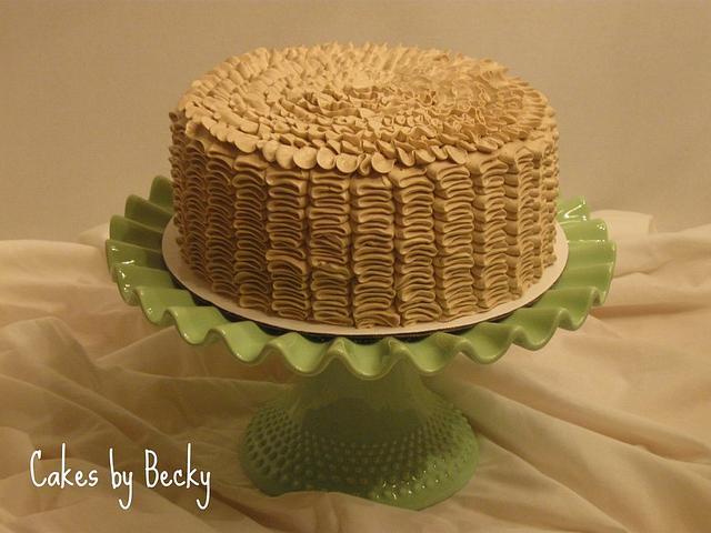 Vanilla Bean Latte Ruffled Chocolate Cake
