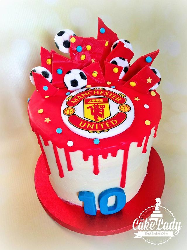 Manchester United Cake Cake By The Cake Lady Cakesdecor