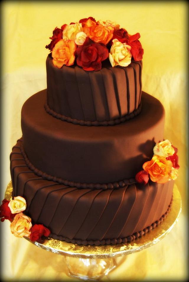 Simple Fall Wedding Cake