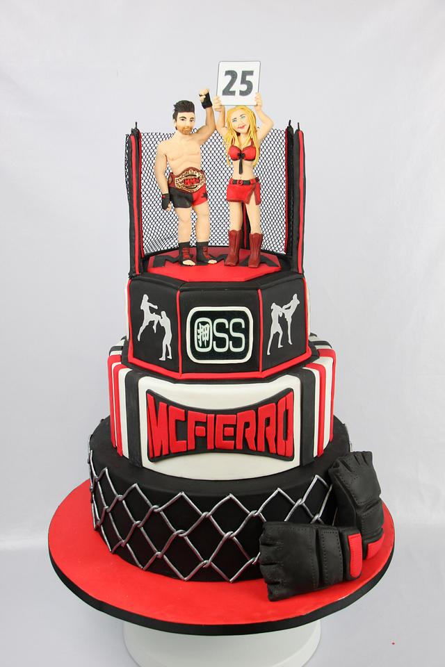 Groovy Kick Boxing Birthday Cake Cake By Artym Cakesdecor Birthday Cards Printable Inklcafe Filternl