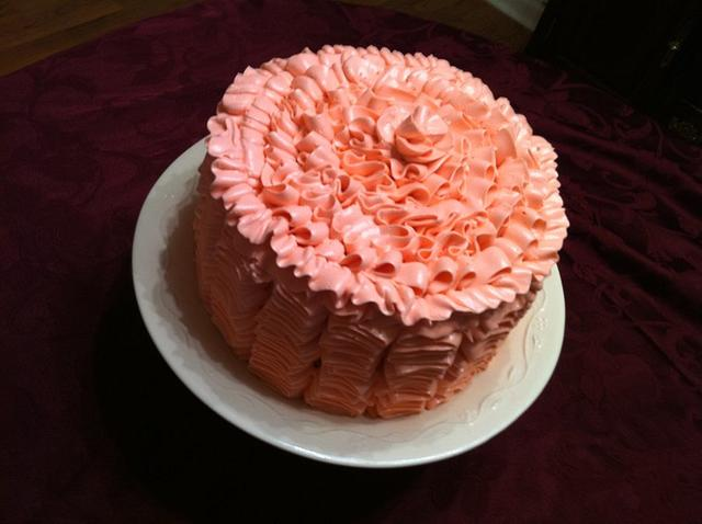 Chocolate ruffled cake