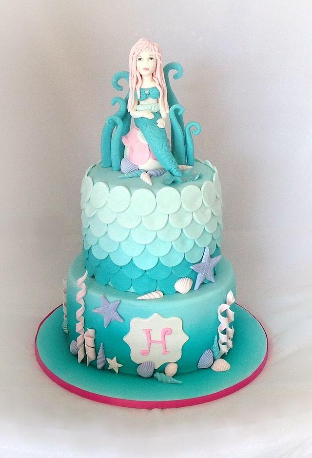 Harper's first birthday Mermaid cake