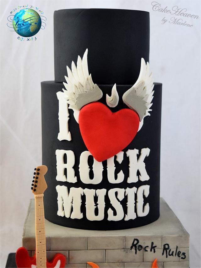 Rock Music Cake - Music Around the World - Cake Notes Collaboration