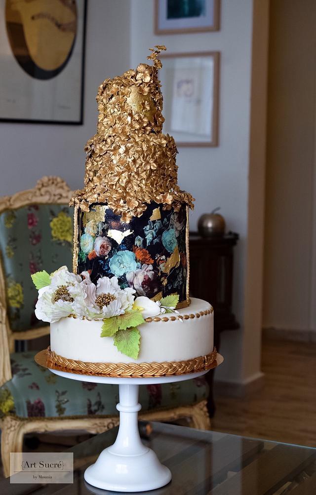Mixed media cake