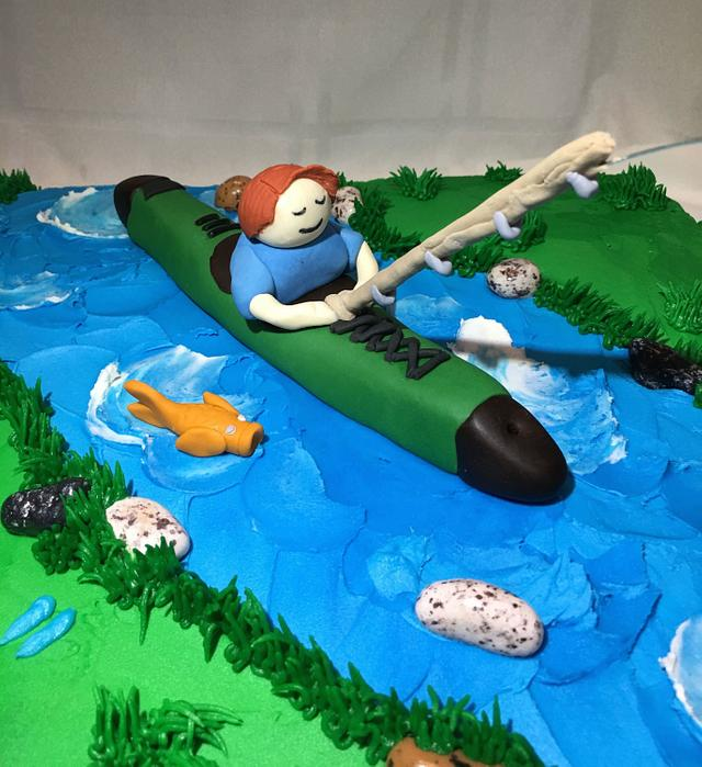 Rehearsal Dinner Cake/Kayaker