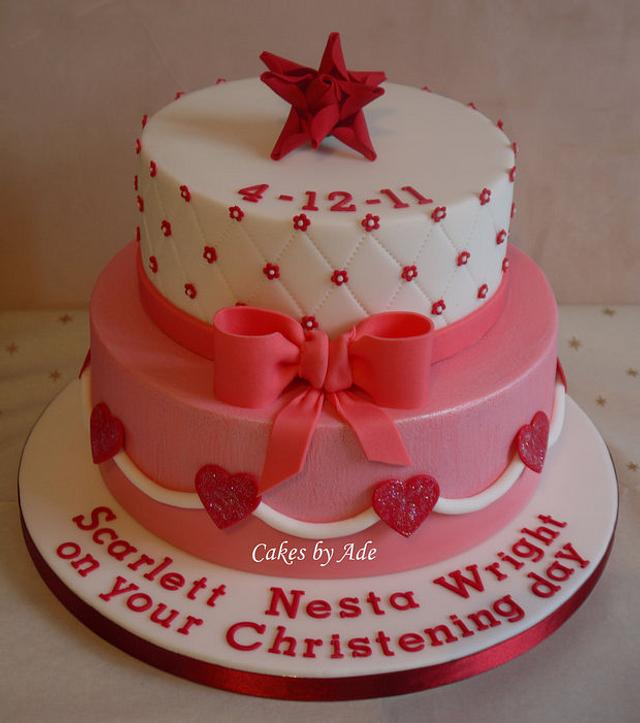 Scarlett's Christening cake - December 2011