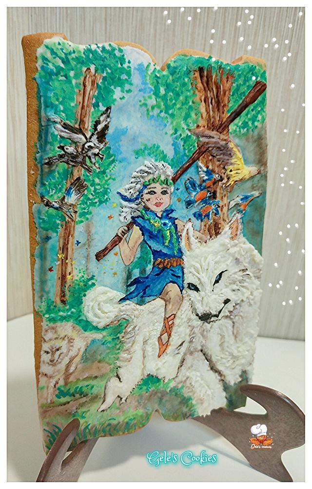 Forest girl silver medal cookie bcn&cakes2016