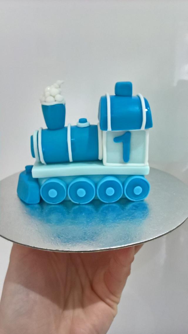 Train Christening/Birthday Cake