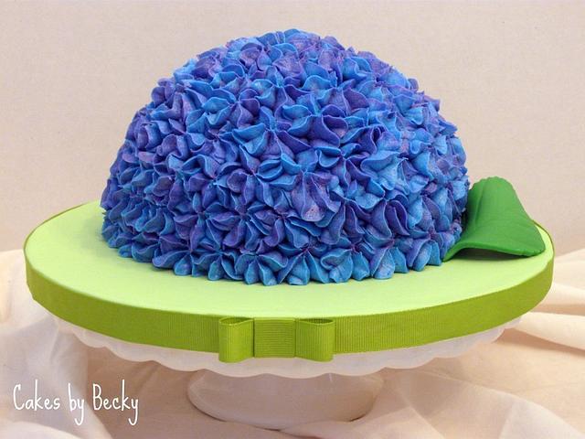 Easter Hydrangea Cake