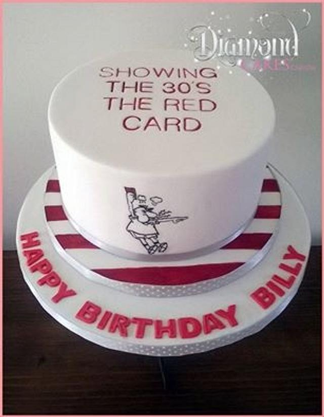 Football 40th Birthday Cake