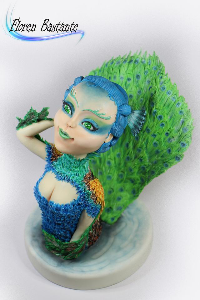 Goddess peacock - Sugar Myths and Fantasies 2.0 collaboration