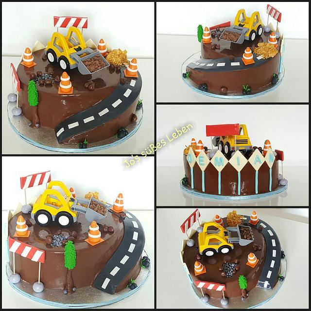 Fabulous Construction Birthday Cake Cake By Josipa Bosnjak Cakesdecor Birthday Cards Printable Inklcafe Filternl