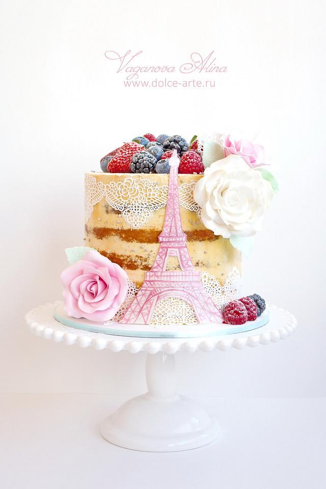 Paris open cake