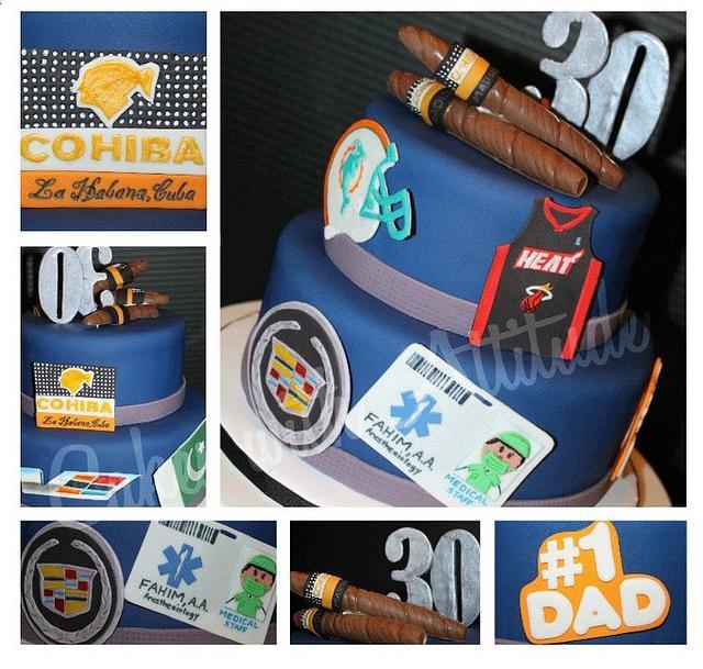 Favorite Things 30th Birthday Cake