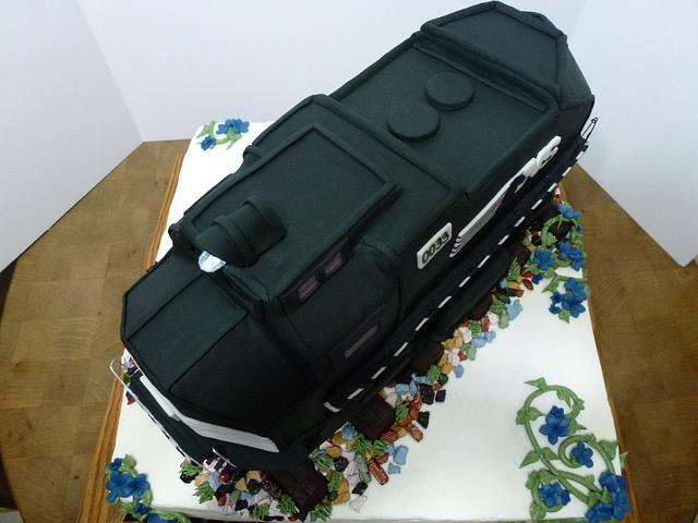 Train Retirement Cake
