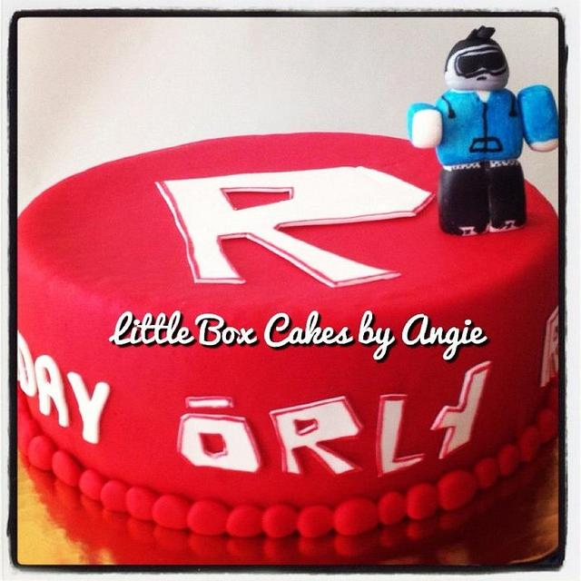 Cake Decorating Tutorial Roblox Birthday Cake Roblox Cake Cake By Little Box Cakes By Angie Cakesdecor