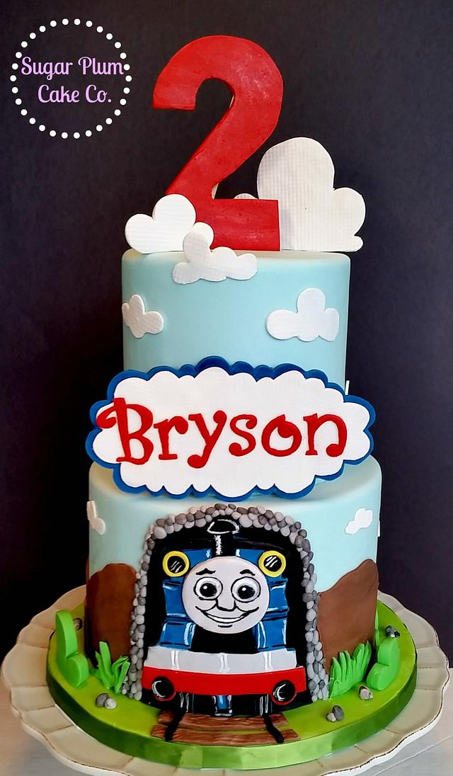 Sensational Thomas The Train Birthday Cake Cake By Sugar Plum Cake Cakesdecor Personalised Birthday Cards Veneteletsinfo